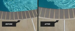 mastic before and after swimming pool